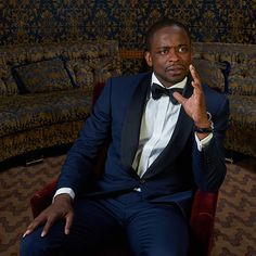 Dulé Hill in the TodayTix Tony Awards photo lounge at the O&M after-party at The Carlyle. Photo by Amy Arbus.