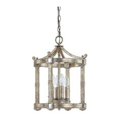 Capital Lighting Palazzo 4 Light Foyer in Silver and Gold Leaf with Antique Mirrors 9161SG photo
