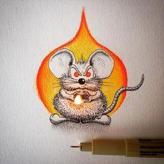 mouse rikiki by @apredart