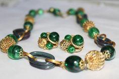 SIGNED ART Scandalous Vintage Marbelized Green by MyJewelsBoutique