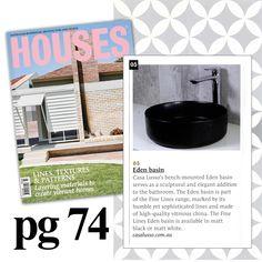 Feature in Australian Houses Magazine Australian Houses, Dream Bathrooms, House And Home Magazine, Basin, House Design, Architecture Design, House Plans, Home Design, Design Homes