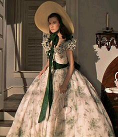 One of Scarlett's beautiful southern belle dresses