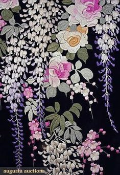 Comolife Made in Japan , Japanese Traditional Needlework Kit , Lovely Flower and Forest Coaster - Embroidery Design Guide Chinese Embroidery, Embroidery Thread, Embroidery Patterns Free, Embroidery Designs, Fabric Painting, Needlework, Quilts, Oriental Flowers, Color Pallets