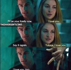 <3 tris and Tobias I love these books!! Can't wait for the movie