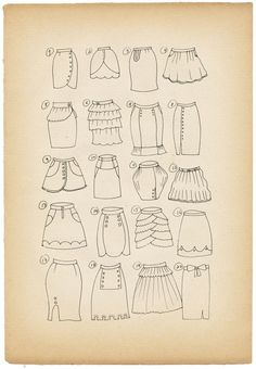 28 Ideas For Skirt Design Ideas Girls Diy Clothing, Sewing Clothes, Clothing Patterns, Sewing Patterns, Skirt Patterns, Sewing Hacks, Sewing Tutorials, Sewing Projects, Make Your Own Clothes