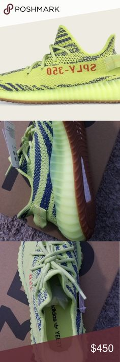 8081a92a140d9 Adidas Yeezy Boost 350 Neon green adidas by Kanye West adidas Shoes  Sneakers Kanye West