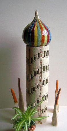 Röhrenwindlicht Aus Keramik, TurmKunst by Beck-Keramik on ezebee.com