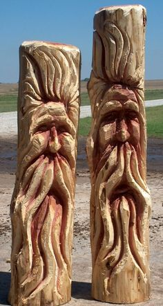 Dayle Lewis' Chainsaw Art - Go Wayne County Chainsaw Wood Carving, Wood Carving Faces, Tree Carving, Wood Carving Patterns, Wood Carving Art, Wood Art, Wood Carvings, Chain Saw Art, Wood Carving For Beginners