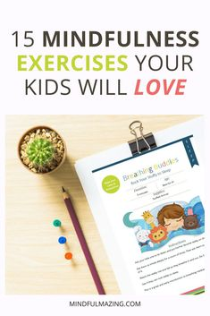 Kids Health 15 Mindfulness Exercises Your Kids Will Love via - Mindfulness is a great way for kids to calm down and focus. Check out these 15 Mindfulness Exercises for kids of all ages. What Is Mindfulness, Mindfulness For Kids, Mindfulness Activities, Mindfulness Practice, Teaching Mindfulness, Mindfullness Activities For Kids, Mindfulness Exercises For Groups, Mindfulness Training, Kindness Activities