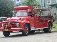 Old fire truck.Ford F Series fire truck