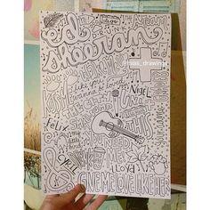 Ed Sheeran drawn Collage