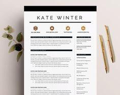 Teacher Resume, Resume Template, 2 Page Resume, CV Template, CV ...