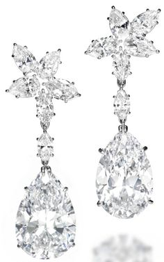 Potentially flawless Harry Winston Diamond Earrings Could Fetch Nearly 4 Million at Christie's