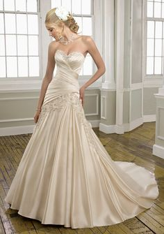 This would be beautiful with a tulle bottom! 100% new Champagne Wedding Dress Bridal gown Size:6.8.10.12.14.16.or custom made