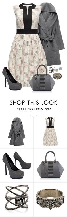 """""""Untitled #1698"""" by beng-gallo on Polyvore featuring WithChic, Lattori, Yves Saint Laurent, Kristina George, Eva Fehren, Alexander McQueen and Kate Spade"""