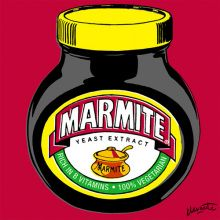 We've been exposed to Andy Warhol's iconic Campbell's soup cans for quite some time now, so it's about time a pop art print tribute to Marmite appeared. The love-it-or-hate-it yeast extract (which. Andy Warhol Pop Art, Herbert Bayer, Power Pop, Roy Lichtenstein, Toulouse, Richard Hamilton, Pop Art Food, Pop Art Party, All Pop