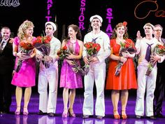 Elizabeth Stanley, Clyde Alves, Megan Fairchild, Tony Yazbeck, Alysha Umphress and Jay Armstrong Johnson take their bows on opening night of ON THE TOWN