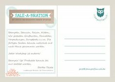 mit MDS von Stampin' Up! gestaltete Postkarte Sale-A-Bration 2014 Back