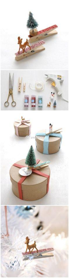 Ganchos de ropa vintage decorados - decorated clothespins