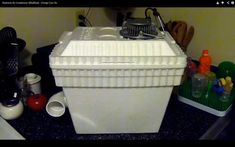 +Styrofoam cooler (the kind you see everywhere in the summer) +A small desk fan (the more powerful the better, just has to fit in the cooler lid) +2 liters or milk jugs with water froze in them