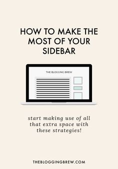 Your sidebar probably takes up over 250 pixels of your blog's width. That's a ton of space! Sidebars offer so much opportunity for advertising, branding, and interactivity. Use these strategies to make the most of yours!