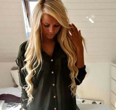 These are the exact kind of long curls I want. With more full body up top and a pretty hand band