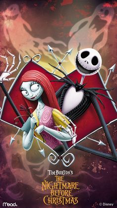 Jack and Sally iPhone Wallpaper ❤️ ( Got this wallpaper with my 2017 The Nightmare Before Christmas Calendar)