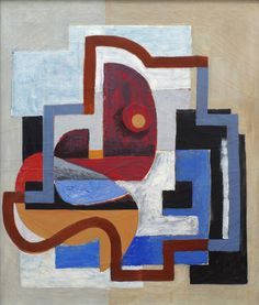 R. LeRoy Turner, Street Composition, 1932/36,  Oil on canvas,  38 x 32 inches