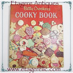 Have a cookie!  #vintage #book #cook #cookbook #recipes #cookies #baking #bettycrocker #etagereantiques #shopping #shoponline #shopsmall #gotvintage