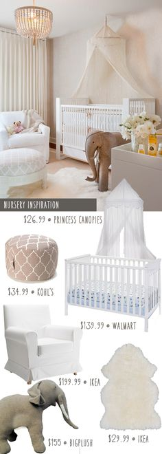 Budget makeover.. Hollywood Glamour nursery on a budget.