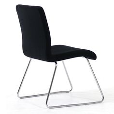 Dolli Visitor Seating.  The Dolli visitors chair is as stylish as it is practical. It is suitable as a visitors chair, meeting room seating or break-out office furniture.  Features: - Solid chrome rod frame - Stackable - Includes black fabric