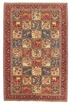 #Carpet #Bakhtiary Fine a genuine nomad rug made in iran. Available at CarpetEden at 981 €. Enjoy your shopping online at CarpetEden!