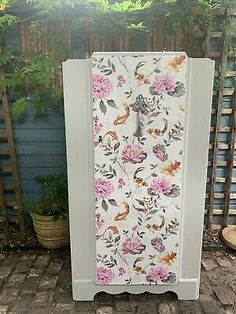 Vintage Painted Tallboy Wardrobe Grey Koi-carp  | eBay