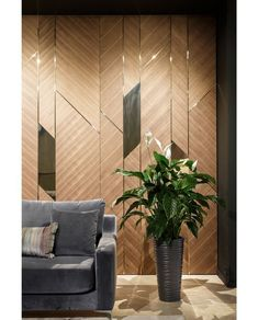28 Ideas For Wall Paneling Office Design Feature Wall Design, Wall Panel Design, Office Wall Design, Wall Tiles Design, Interior Exterior, Interior Walls, Interior Design, Wall Cladding Interior, Bibliotheque Design