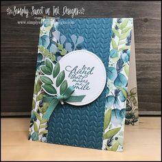 Leaf Cards, Stampin Up Catalog, Stamping Up Cards, Cards For Friends, Color Card, Embossing Folder, Flower Cards, Creative Cards, Greeting Cards Handmade