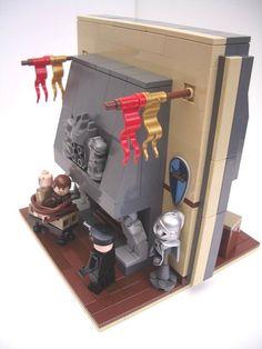"""Captured at Castle Brunwald"" Lego Minifigure Display, Lego Minifigs, Lego Hogwarts, Lego Ww2, Lego Indiana Jones, Lego Furniture, Lego Craft, Lego Castle, All Lego"