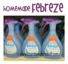 Do you use Febreze as a bathroom freshener? It totally works!  Here's a homemade version that will save you MONEY! #TipsandTricks