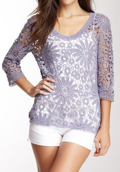 Simply Irresistible Crochet V-Neck Top