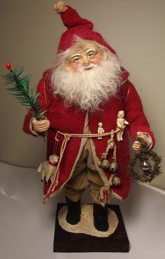 Handmade 16 inch standing Santa Claus By Kim Sweet~Kim's Klaus~OoAk Vintage Antique Christmas