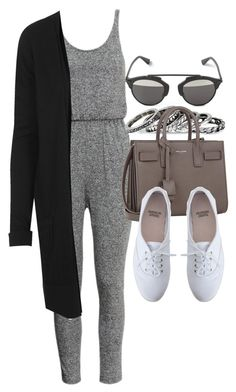 """""""Style #9476"""" by vany-alvarado ❤ liked on Polyvore featuring Christian Dior, H&M, Pieces, Topshop, Yves Saint Laurent and American Apparel"""