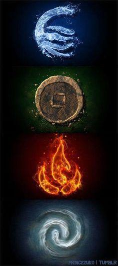 Os quatros elementos.                                                                                                                                                                                 Más