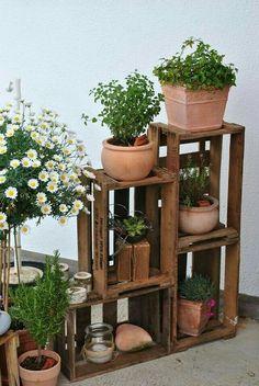 Shelving as planters