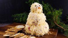 The tastiest (and cutest!) snowman ever! Katie Lee's Snowman Cheeseball (add 8 oz cream cheese?)