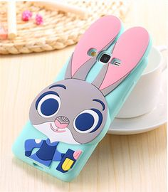 3D Bunny Cute Cartoon Judy Rabbit Soft Silicone Back Cover For Samsung Galaxy Grand Prime G530 G530H G5308W G531H Phone Cases