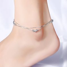NRG 316L Jewelry Circle Jingle Bell Charm Bracelet//Anklet with Extender Chain /& Clear CZ