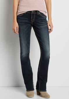 Silver Jeans Co.® Elyse slim boot jeans (original price, $99.00) available at #Maurices