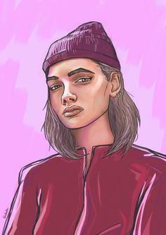 zeszytowe rysunki - digital painting