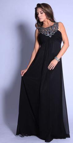 black gown with jewels