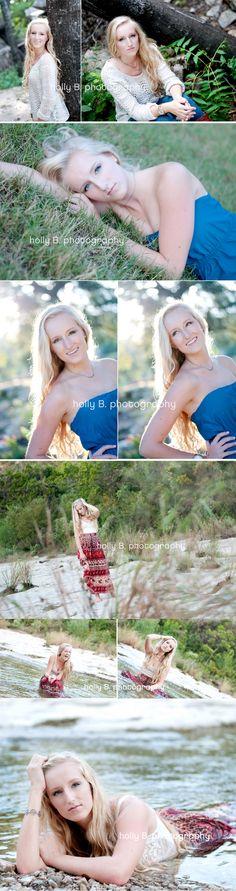 austin senior portrait photographer, senior portraits, holly B. photography, senior posing, senior girl posing, senior girl water