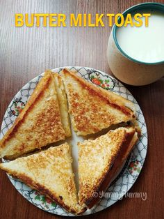Butter Milk Toast Recipe - Kids Breakfast Ideas - Easy Bread Recipes - Recipes to cook - # Indian Breakfast, Breakfast Toast, Breakfast For Kids, Best Breakfast, Breakfast Ideas, Breakfast Recipes, Second Breakfast, Bread Recipes For Kids, Snack Recipes